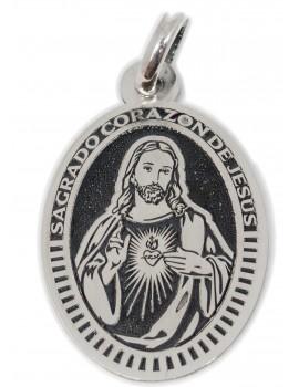 sagrado Corazón de Jesús - medalla oval grande