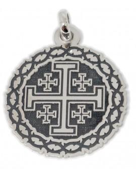 Cruz de Jerusalem - medalla calada pequeña